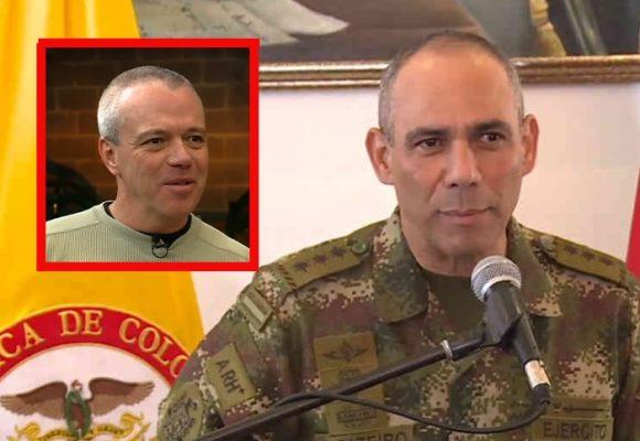 La tristeza del comandante del Ejército con la muerte de Popeye