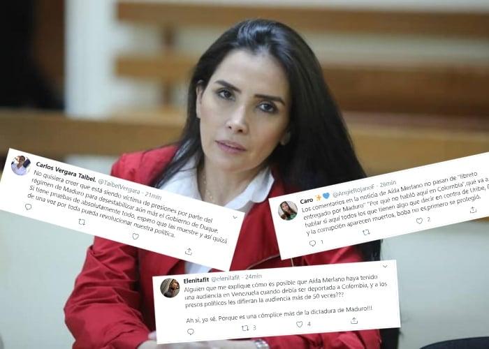 """""""Es un libreto de Maduro"""" La campaña uribista en Twitter contra Aida Merlano"""