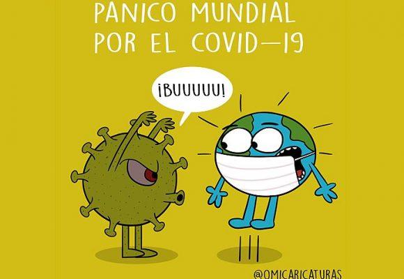 Caricatura: El mundo en pánico por el Coronavirus