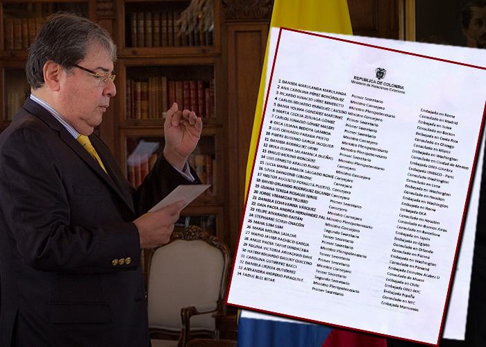 Los 61 nombramientos del excanciller Holmes Trujillo en la cuerda floja
