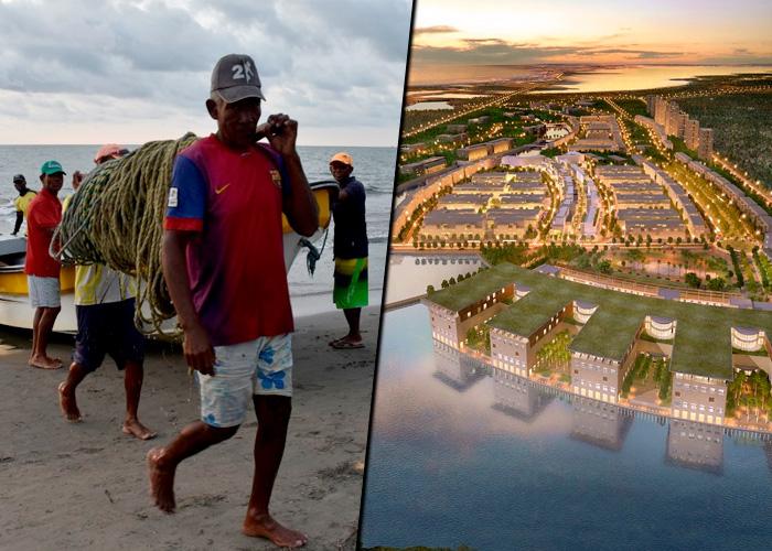 Los pescadores de la Boquilla, acorralados por las urbanizaciones top de Cartagena