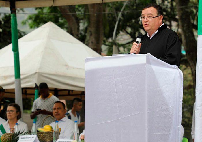 Intervención del magistrado de la JEP Alejandro Ramelli. Foto: JEP