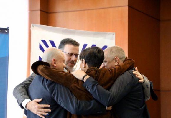 El abrazo que entierra el dolor del atentado al Nogal
