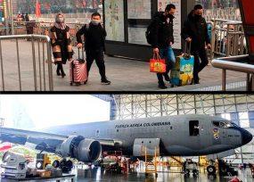 El avión Júpiter de la FAC al rescate de los 14 colombianos en China