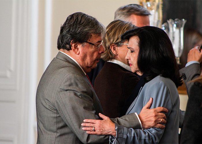 El ministro de Defensa, Carlos Holmes Trujillo, y la canciller Claudia Blum. Foto: Leonel Cordero / Las2orillas