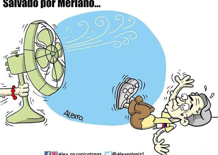 Caricatura: El salvado por Merlano...