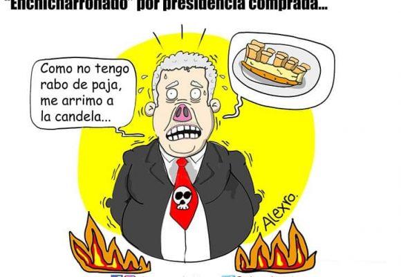 Caricatura: Enchicharronado por presidencia comprada