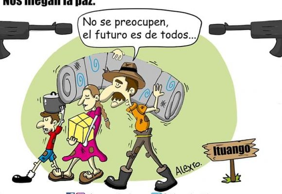 Caricatura: Nos niegan la paz