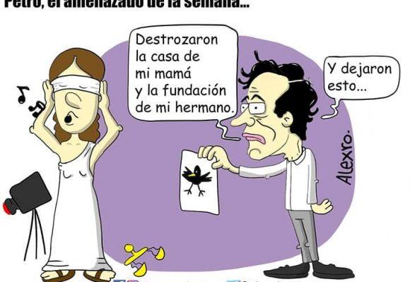 Caricatura: Petro, el amenazado de la semana