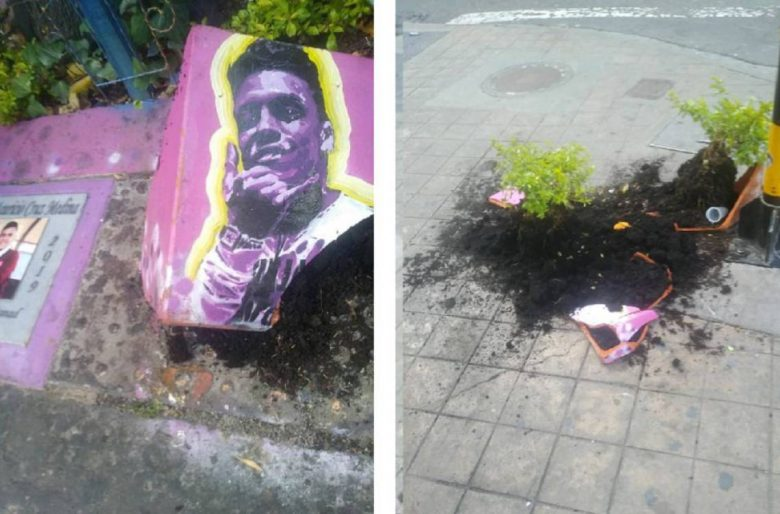 Destruyeron el monumento a Dilan Cruz y hay uribistas que lo celebran