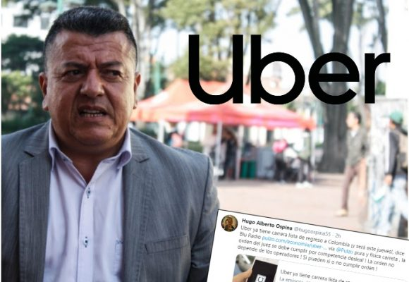 Furia de Hugo Ospina y los amarillos por el regreso de Uber