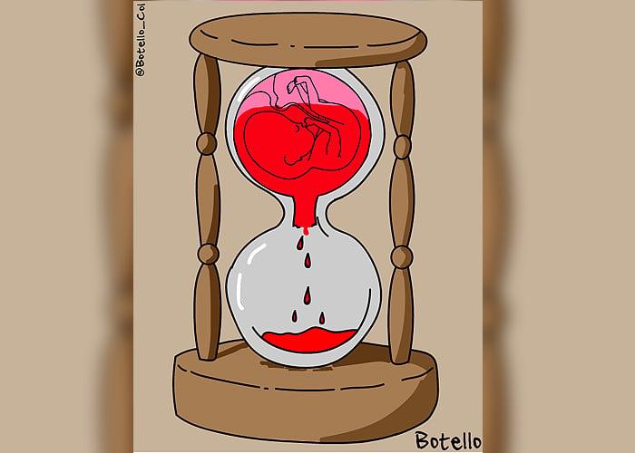 Caricatura: El dilema del aborto
