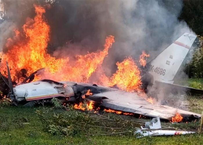 [VIDEO] Avión cae cerca de Guaymaral al norte de Bogotá