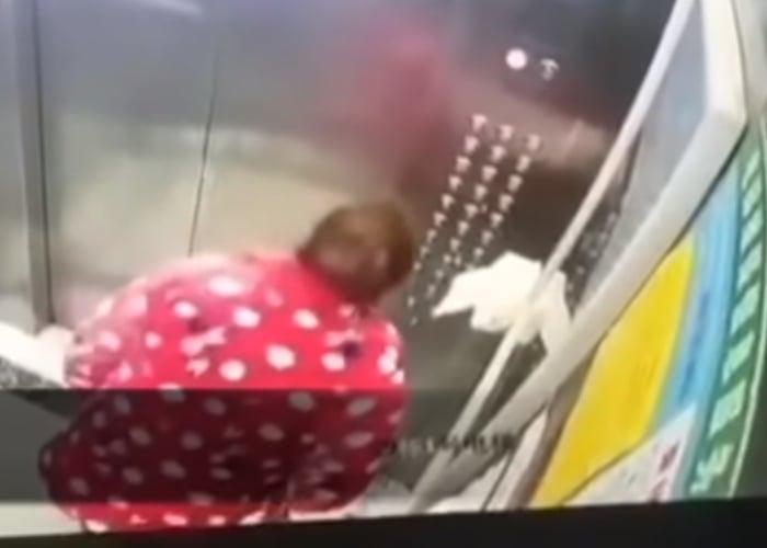VIDEO: Mujer con coronavirus escupe en ascensor y es detenida