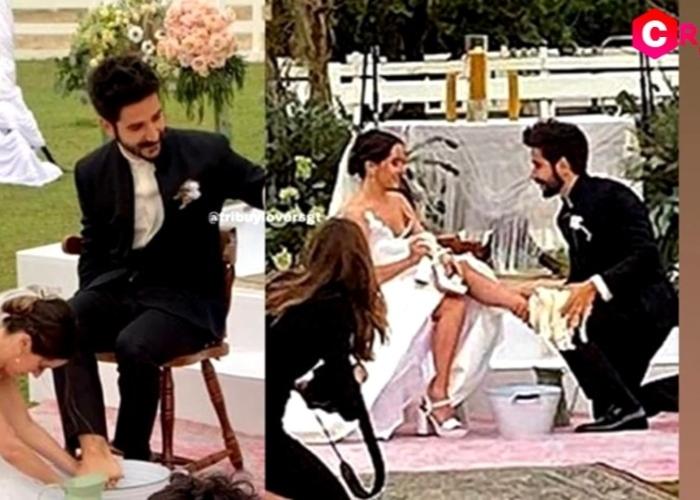 La foto que no han mostrado: Camilo sí le lavó los pies a Evaluna Montaner