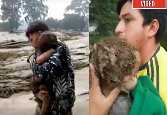 ¡Milagro! Bebé de ocho meses sobrevive a la avalancha de Piedecuesta