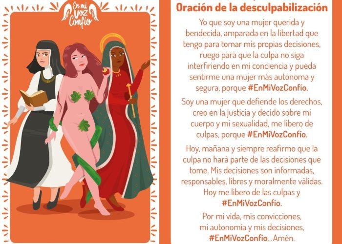 """Oración de la desculpabilización hecha en el marco de la campaña """"En mi voz confío"""" de CDD. Foto: @CDD_Colombia"""