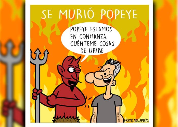 Caricatura: Se murió Popeye