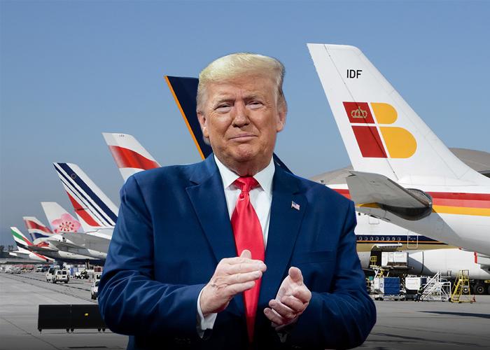 Las aerolíneas europeas más golpeadas por la decisión de Trump