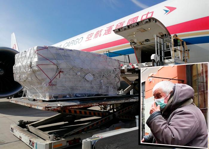La ayuda de China llega a Italia y España