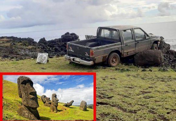 El idiota que destruyó dos de los gigantes de la Isla de Pascua