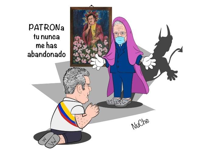 Caricatura: La virgen de los sicarios