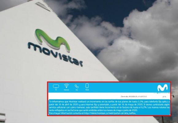Denuncia: Movistar anuncia incremento del valor de sus servicios en plena crisis por COVID-19