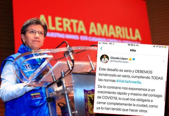 La medida extrema que podría tomar Claudia López: aislar a Bogotá