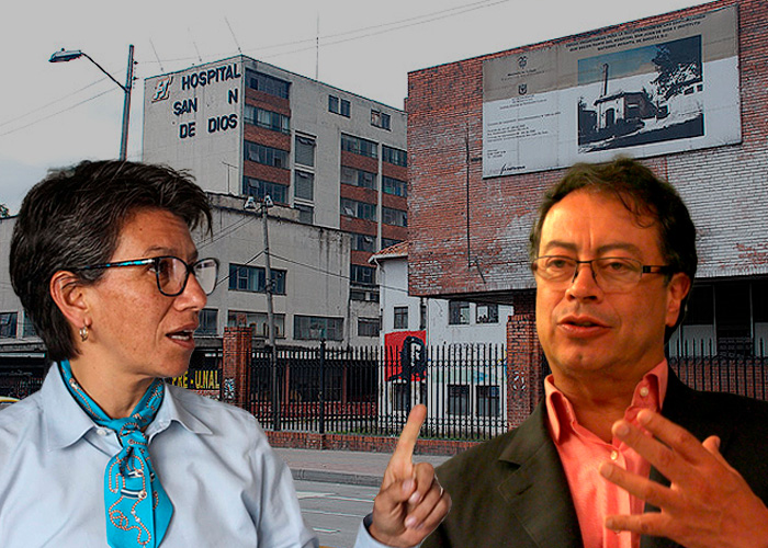 Obsesión de Petro por el Hospital San Juan de Dios lo enfrenta furioso a Claudia López