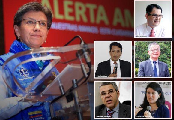 Los 6 médicos especialistas detrás de Claudia López