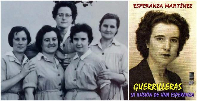 Sole (segunda por la derecha), en la cárcel de Alcalá, en 1961. Portada de la autobiografía de Esperanza Martínez