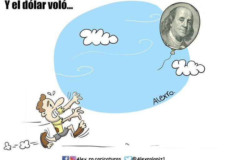 Caricatura: Y el dólar voló...
