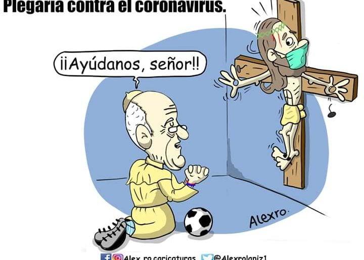 Caricatura Plegaria Contra El Coronavirus Las2orillas