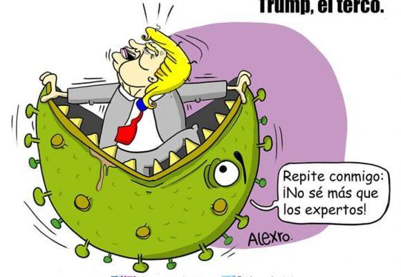 Caricatura: Trump, el terco