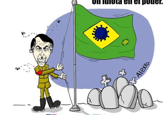Caricatura: Un idiota en el poder