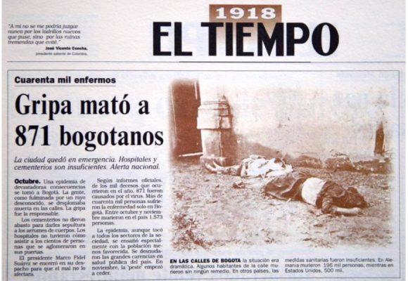 La gripa que mató a 871 bogotanos