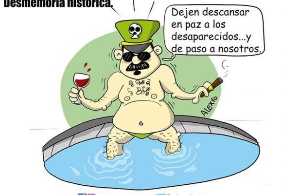 Caricatura: Desmemoria histórica