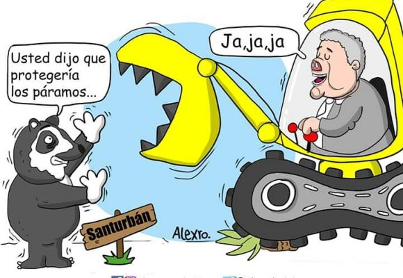 Caricatura: Salvemos Santurbán