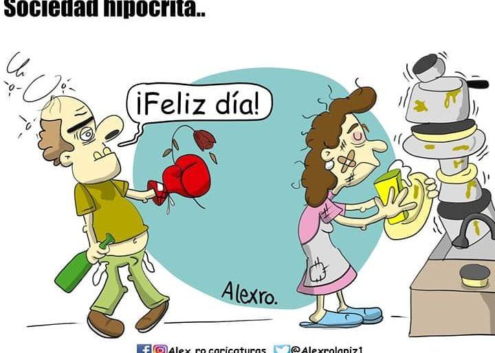 Caricatura: Sociedad hipócrita