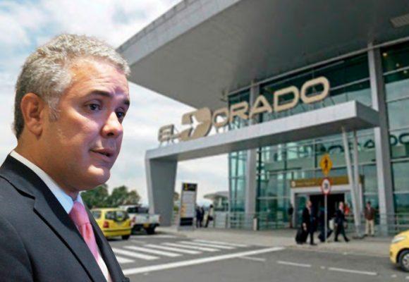 Suspendidos todos los vuelos internacionales de El Dorado