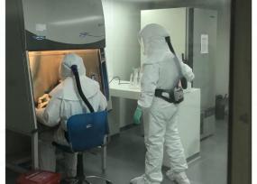 Reparan la máquina para hacer las pruebas del coronavirus