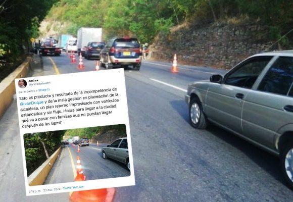 La rabia de una viajera que se fue de puente y ahora sufre para entrar a Bogotá