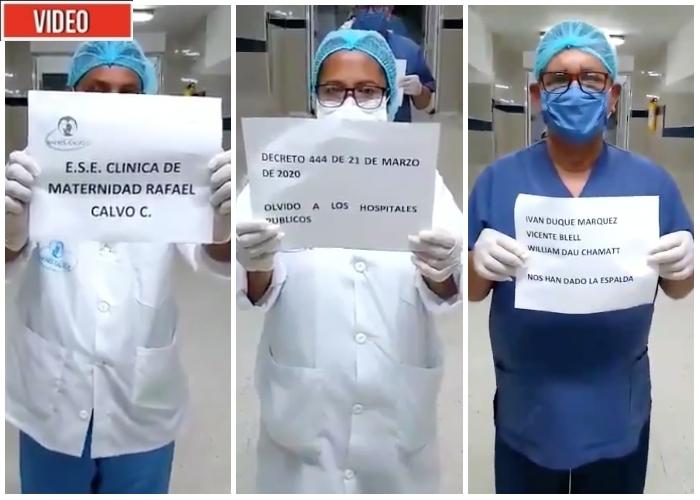 Médicos en Cartagena a paro por no tener recursos para enfrentar el coronavirus