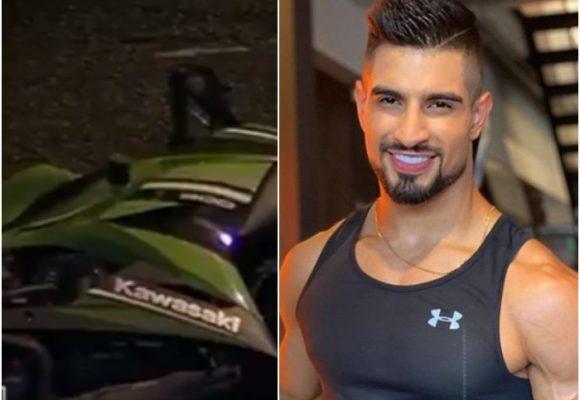 VIDEO: Así quedó moto después de accidente donde murió participante de Guerreros