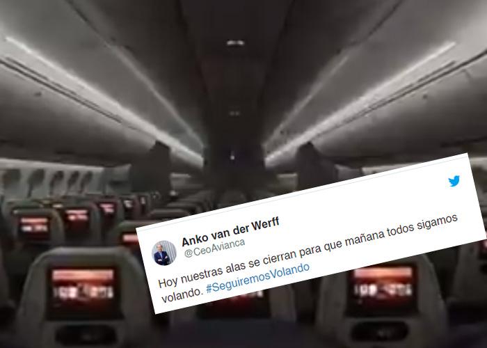Dramático video de Avianca anunciando que se queda en tierra