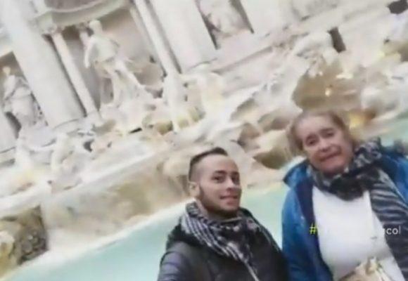 Le cumplió a su mamá el sueño de conocer Italia y quedaron atrapados