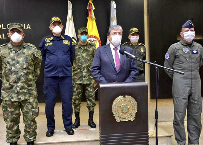 Confirmados casos de coronavirus en Policía y Fuerza Aérea colombiana