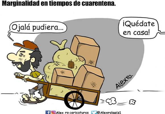 Caricatura: Marginalidad en tiempos de cuarentena