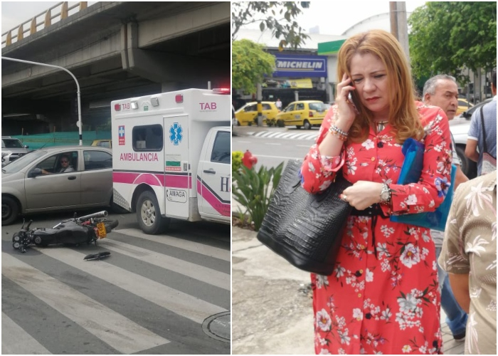 Gerente de Amagá usa ambulancia para llegar a reunión y atropella a motociclista