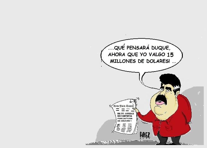 Caricatura: Maduro, un presidente bien valorado